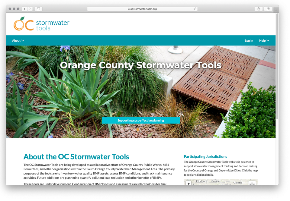 OC Stormwater Tools Website