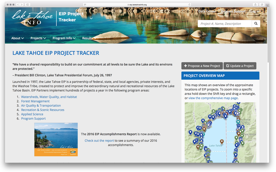 EIP Project Tracker Site