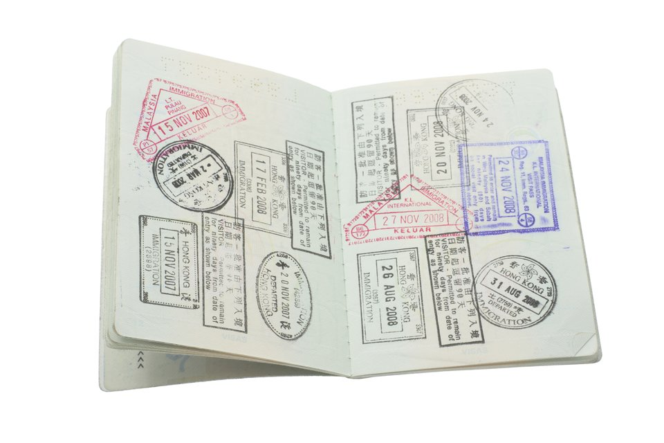 Passport Stamps - White BG